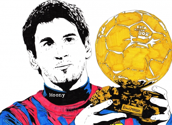 Lionel Messi by Moony36